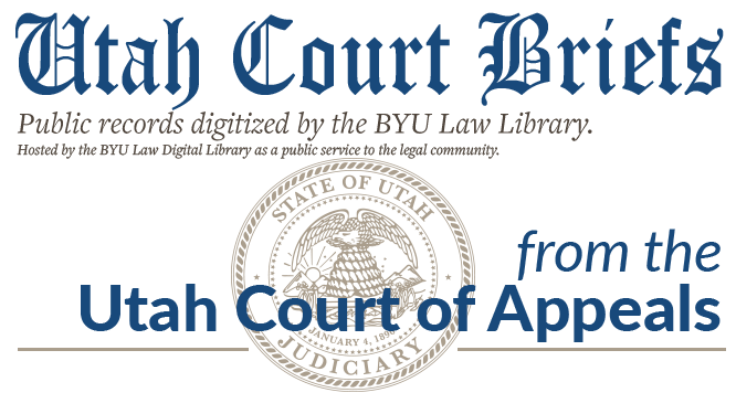 Utah Court of Appeals Briefs