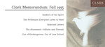 Clark Memorandum: Fall 1995 by J. Reuben Clark Law School
