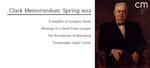 Clark Memorandum: Spring 2012 by J. Reuben Clark Law School