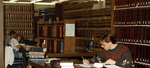 Studying at the law library circa 1980.